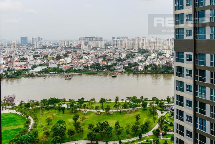 View Căn hộ Vinhomes Central Park tầng trung, tháp Park 5, 2 phòng ngủ, view sông