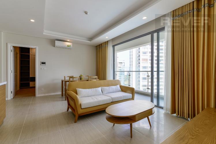 Phòng Khách Bán căn hộ Đảo Kim Cương 2 phòng ngủ tầng trung tháp Bora Bora, đầy đủ nội thất, view sông và nội khu