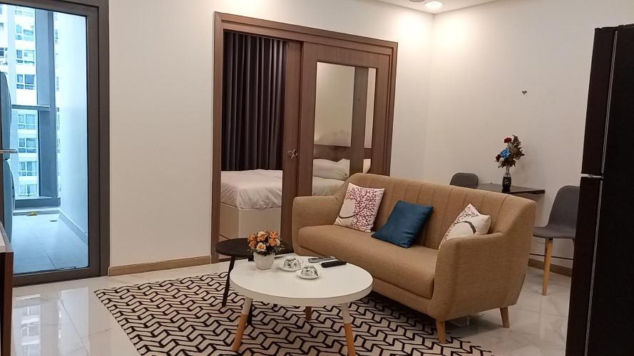 Phòng khách Vinhomes Central Park Căn hộ Vinhomes Central Park tầng cao hướng view nội khu yên tĩnh