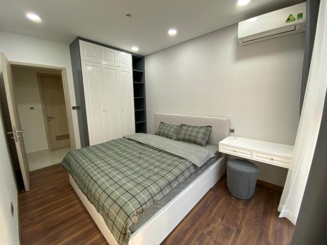 Phòng ngủ Phú Mỹ Hưng Midtown Căn hộ Phú Mỹ Hưng Midtown đầy đủ nội thất, thiết kế gam màu xanh mát.