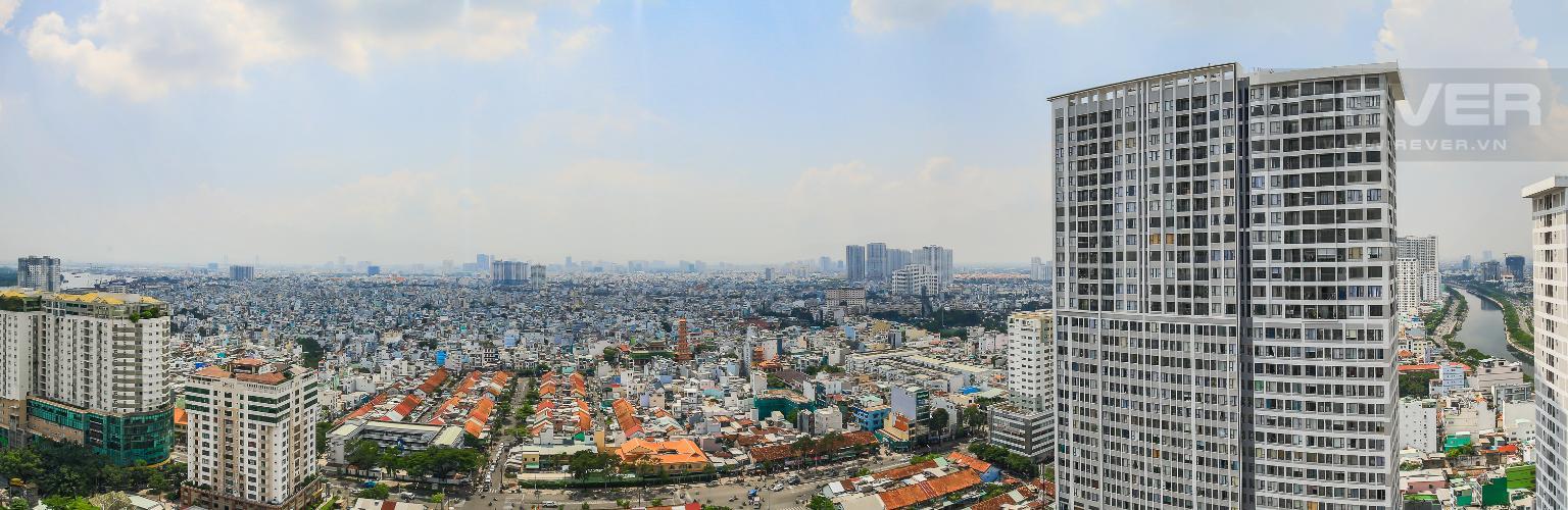 View Cho thuê căn hộ Masteri Millennium tầng cao, 2PN nội thất đầy đủ, có thể dọn vào ở ngay
