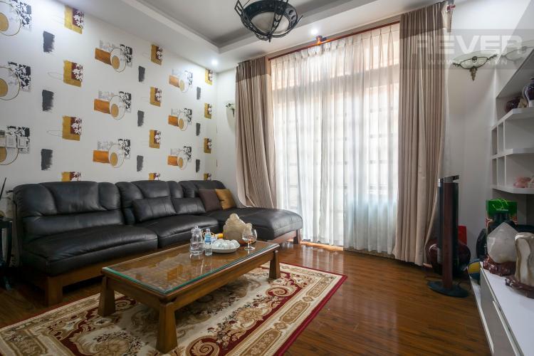 Phòng Khách Cho thuê nhà phố Quận 2 5PN, đầy đủ nội thất