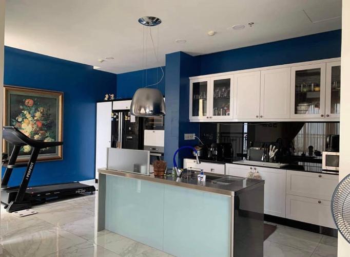 bếp căn hộ Tropic Garden Bán căn hộ Penthouse nội thất đầy đủ, view sông Tropic Garden