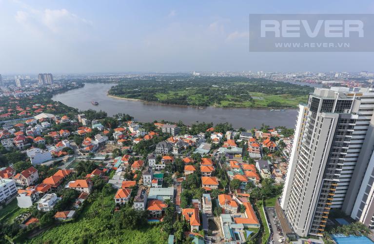 View Căn hộ Masteri Thảo Điền tầng cao 3PN nội thất đầy đủ, view sông