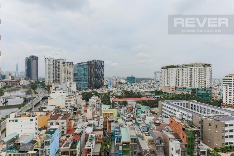 View Bán căn hộ Masteri Millennium tầng trung, 2PN, view hồ bơi và toàn cảnh thành phố