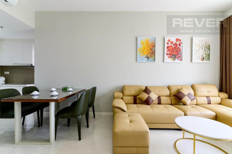 Phòng Khách Cho thuê căn hộ Masteri An Phú, tầng trung, đầy đủ nội thất, view sông thoáng mát