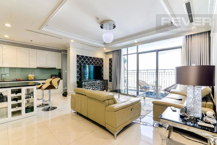 Phòng Khách Căn hộ Vinhomes Central Park 3 phòng ngủ tầng trung C1 view sông