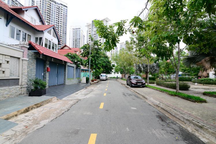 Lộ Giới Cho thuê biệt thự Khu dân cư An Phú, hướng Đông Nam, thiết kế sang trọng, đầy đủ nội thất