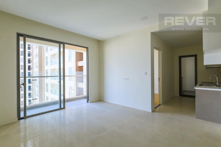 Phòng Khách Bán căn hộ Masteri Millennium tầng cao, 2PN, có ban công rộng rãi