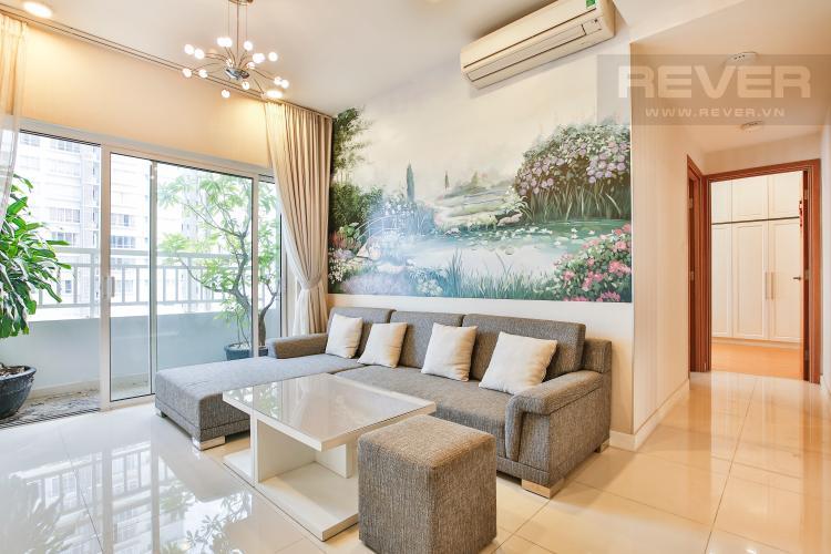 Phòng Khách Căn hộ Sunrise City 2 phòng ngủ tầng cao W1 nội thất đầy đủ