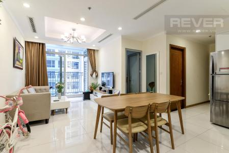 Bán căn hộ Vinhomes Central Park 2PN, tầng trung, tháp Landmark 5, đầy đủ nội thất, hướng Đông Bắc