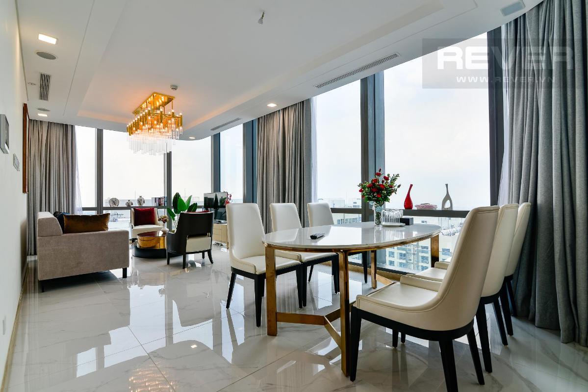 Phòng Khách 5 Bán hoặc cho thuê căn hộ Vinhomes Central Park 4PN, tháp Landmark 81, diện tích 164m2, đầy đủ nội thất, căn góc view thoáng