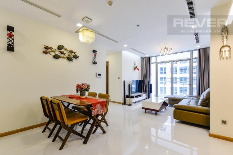 bàn ăn Căn góc Vinhomes Central Park tầng trung Park 2 đầy đủ nội thất