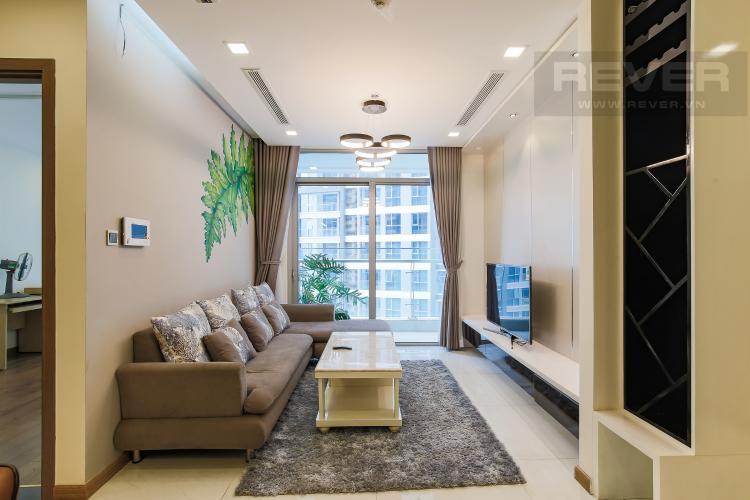 Phòng Khách Bán căn hộ Vinhomes Central Park tầng trung tháp Park 3, 2PN 2WC, đầy đủ nội thất cao cấp