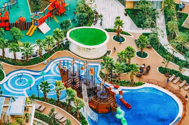 View Nội Khu Cho thuê căn hộ Diamond Island - Đảo Kim Cương 2PN, tầng cao, tháp Bahamas, đầy đủ nội thất, view sông yên tĩnh