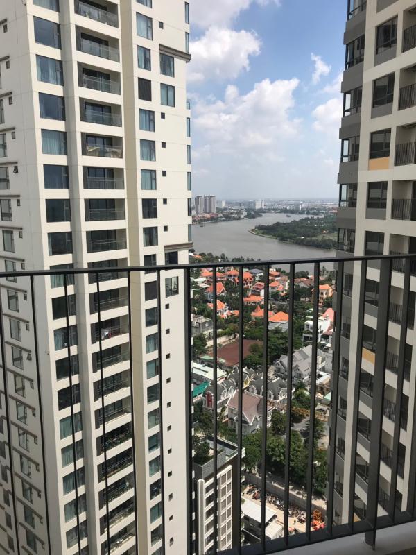 view sông Sài gòn Bán căn hộ Masteri An Phú 2PN, tháp B, nội thất cơ bản, view sông và Xa lộ Hà Nội