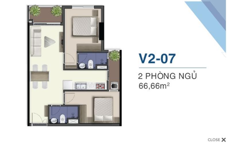 Bán căn hộ Q7 Saigon Riverside view sông Sài Gòn, ban công hướng Bắc.