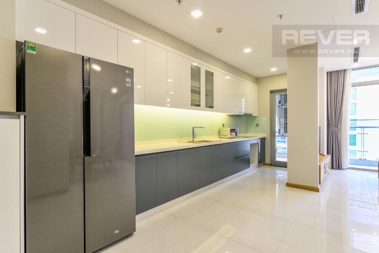 Nhà Bếp Cho thuê căn hộ Vinhomes Central Park tầng cao 3PN nội thất đầy đủ, view sông