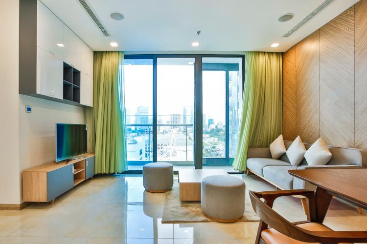 Phòng Khách Căn hộ Vinhomes Golden River 2 phòng ngủ tầng thấp A3 hướng Tây Nam