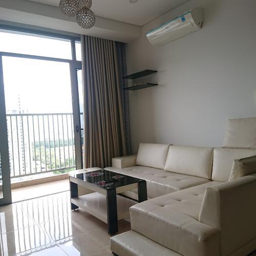 phòng khách căn hộ Luxcity Căn hộ tầng cao Luxcity, ban công hướng Bắc nội thất đầy đủ