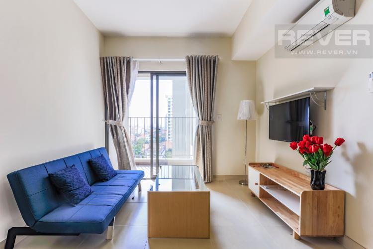 Phòng khách hiện đại Căn hộ Masteri Thảo Điền tầng thấp T1B hướng Tây Bắc 1 phòng ngủ