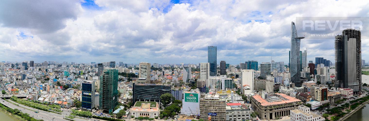 View Bán hoặc cho thuê căn hộ Saigon Royal 2PN, tháp A, đầy đủ nội thất, view kênh Bến Nghé và Bitexco