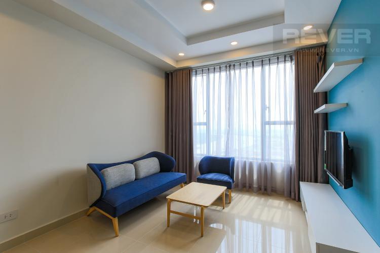 Phòng Khách Căn góc The Tresor 3 phòng ngủ tầng cao TS1 view sông