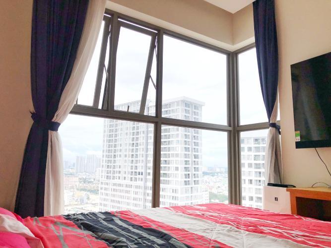 View phòng ngủ Masteri Millennium Quận 4 Căn hộ tầng cao Masteri Millennium nội thất hiện đại, view Q1.