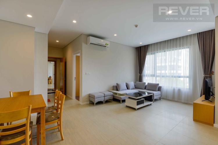 Phòng Khách 1 Bán hoặc cho thuê căn hộ dual key Diamond Island - Đảo Kim Cương 3PN, đầy đủ nội thất, view sông thoáng mát