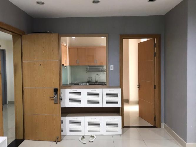 Phòng khách Him Lam Riverside Căn hộ Him Lam Riverside nội thất đầy đủ, view thành phố.