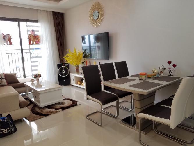 Phòng khách căn hộ The Sun Avenue Bán căn hộ view thành phố - The Sun Avenue tầng cao, diện tích 96m2, đầy đủ nội thất.