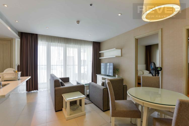 Phòng Khách Bán căn hộ Diamond Island - Đảo Kim Cương 2PN, tháp Brilliant, đầy đủ nội thất, view sông thoáng mát