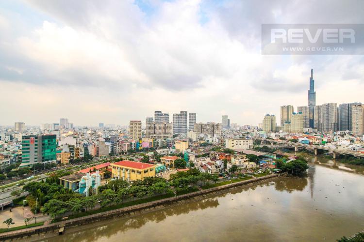 View Cho thuê căn hộ Vinhomes Golden River 2PN, đầy đủ nội thất, view sông Sài Gòn và Landmark 81