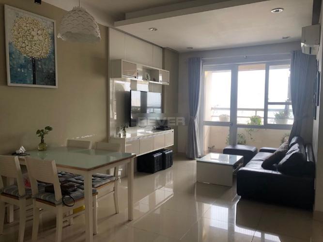 Căn hộ Saigonland Apartment, Bình Thạnh Căn hộ Saigonland Apartment tầng trung, đầy đủ nội thất.