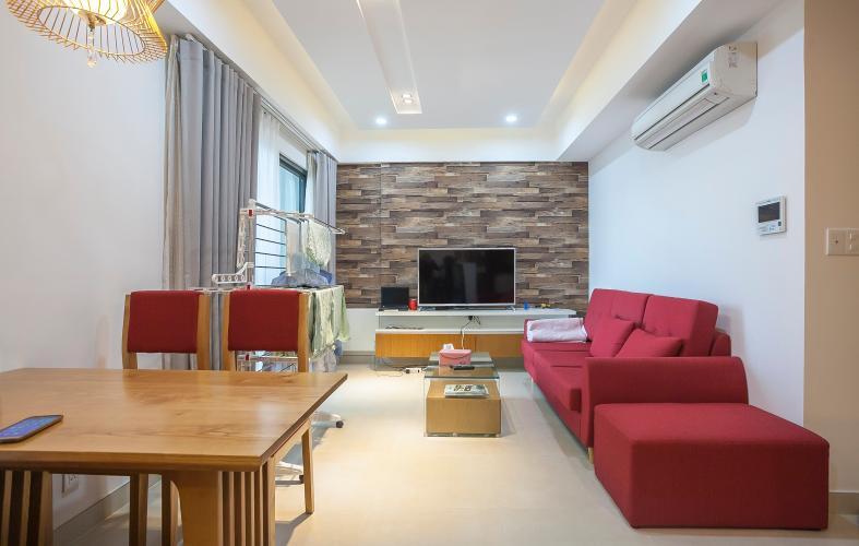 Phòng Khách Căn hộ Masteri Thảo Điền 2 phòng ngủ tầng cao T4 nội thất đầy đủ