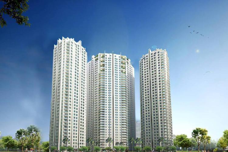 Building dự án Căn hộ Hoàng Anh Thanh Bình tầng cao, đầy đủ nội thất.