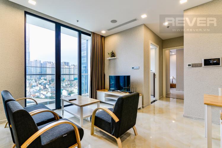 Phòng Khách Căn hộ Vinhomes Golden River tầng thấp, tháp Aqua 1, 2 phòng ngủ, view sông