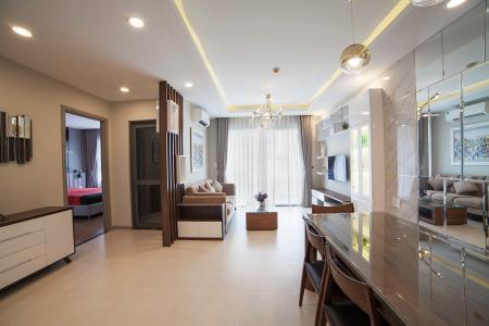 Căn hộ The Gold View 2 phòng ngủ tầng trung A2 hướng Đông Nam