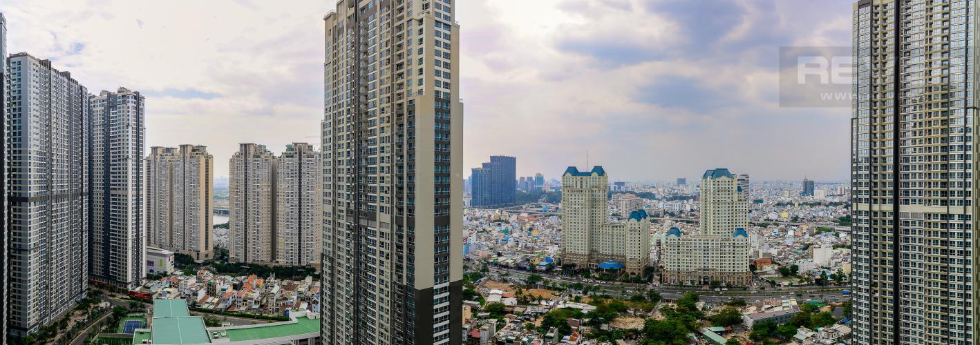 View Cho thuê căn hộ Vinhomes Central Park tầng cao 2PN 2WC, đầy đủ nội thất tiện nghi