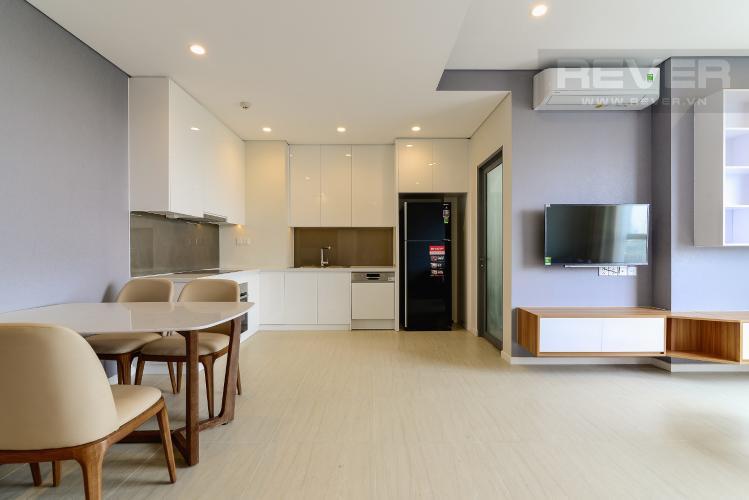 Bếp & Phòng Khách 2 Bán căn hộ Diamond Island - Đảo Kim Cương 3 phòng ngủ, đầy đủ nội thất, view sông mát mẻ