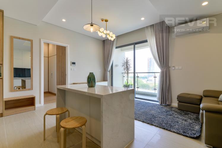 Phòng Khách & Bếp Cho thuê căn hộ Diamond Island 52,54m2 1PN 1WC, nội thất cao cấp, view sông