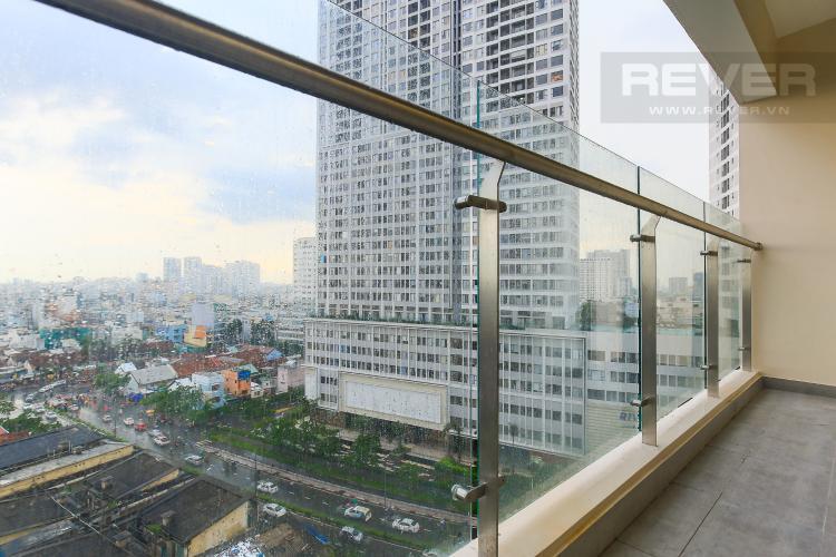 Balcony Cho thuê căn hộ Masteri Millennium tầng trung 3PN đầy đủ nội thất, diện tích rộng rãi