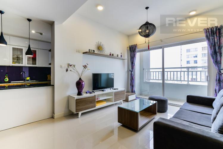 Phòng Khách Căn hộ Sunrise City 2 phòng ngủ tầng cao W1 hướng Nam