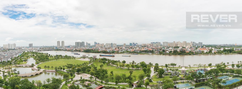 View Căn hộ Vinhomes Central Park 4 phòng ngủ tầng trung P3 view trực diện sông