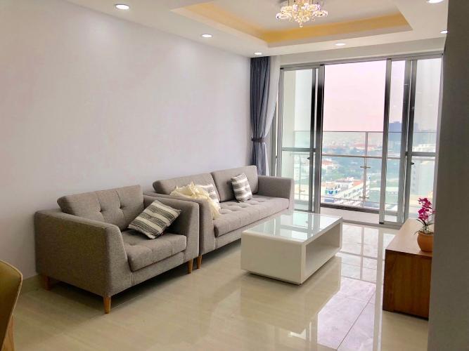 Phòng khách căn hộ Scenic Valley, Quận 7 Căn hộ Scenic Valley tầng cao view sông thoáng gió