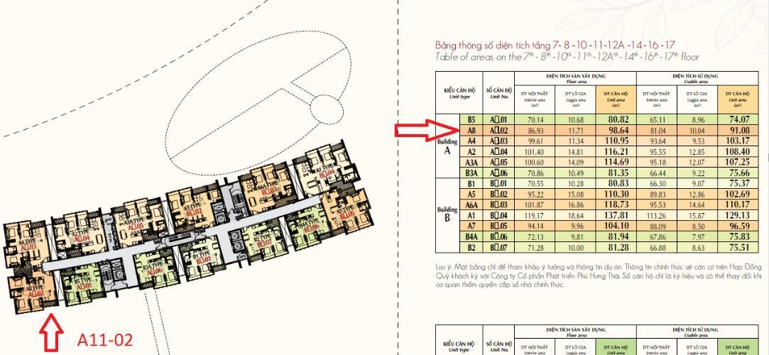 vị trí căn hộ PHÚ MỸ HƯNG MIDTOWN Bán căn hộ Phú Mỹ Hưng Midtown 3PN, tầng 11, ban công Đông Nam