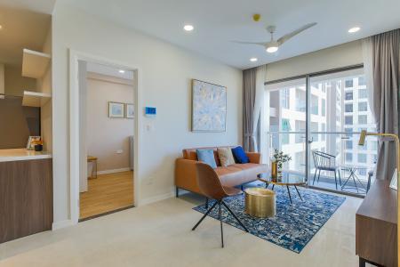Cho thuê căn hộ Masteri Millennium tầng trung 2PN 2WC, đầy đủ nội thất, view sông