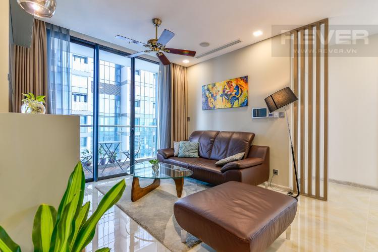 Phòng Khách Cho thuê căn hộ Vinhomes Golden River tầng cao 3PN đầy đủ nội thất view sông
