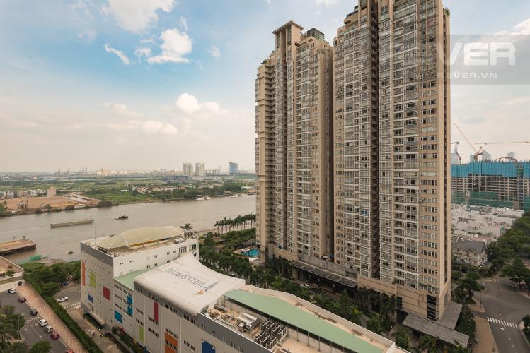 view Cho thuê căn hộ Vinhomes Central Park tầng cao, 1PN, đầy đủ nội thất, view sông