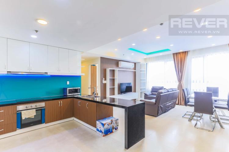 View căn hộ Căn góc hướng Tây Nam tầng cao T1B Masteri Thảo Điền